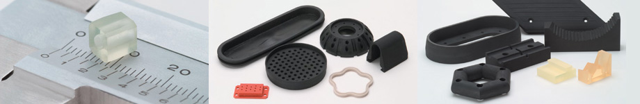 image of custom rubber produts for moldless process