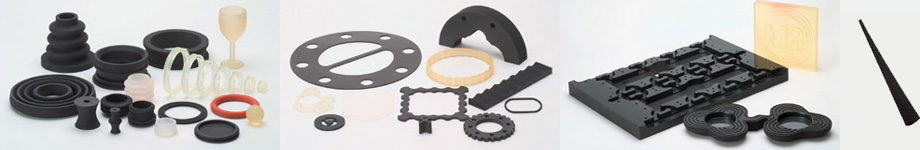 image of materials used in making custom rubber products