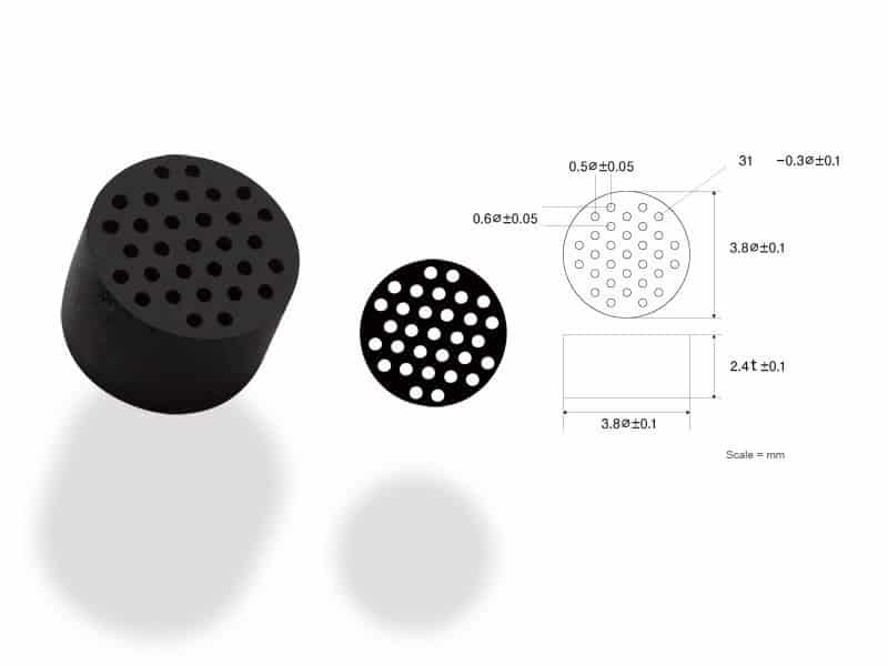 image of micro gasket made of flouro rubber material