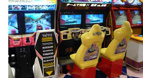 image of Japanese arcade games