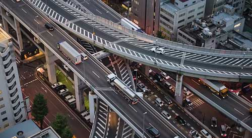 image of Osaka highways