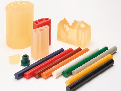 image of colorful rods made of Urethane rubber materials