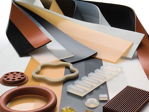 image of rubber strips with different materials